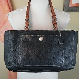 Coach Chelsea Black Soft Pebbled Leather Tote